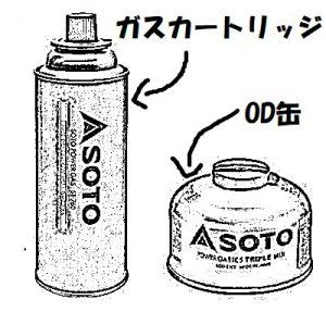 ガス缶の違いの画像