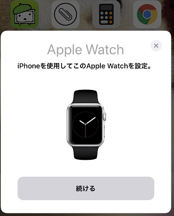アップルウォッチ3の設定画像